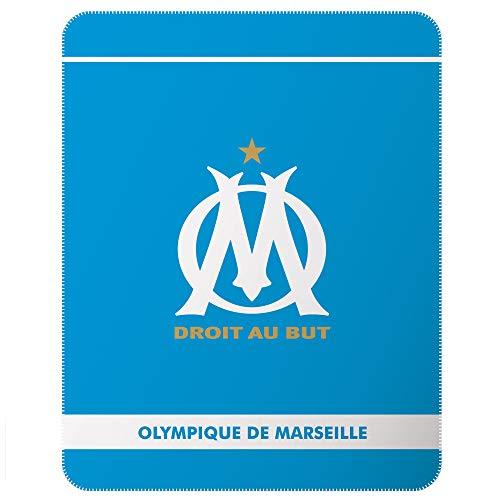 OLYMPIQUE MARSEILLAIS Couvertures et Plaids, Polyester, Bleu, 110 x 140 cm