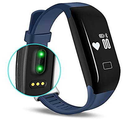 Fitness Tracker with Heart Rate Monitor, E3 Activity Watch Step Walking Sleep Counter Wireless Wristband Pedometer Exercise Tracking Sweatproof Sports Bracelet for Android and iOS EIISON