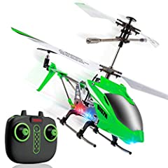 EASY REMOTE CONTROL HELICOPTER: Fly easy with 1-Key Lift/Land and Trim Control to correct drifting and tilting; Altitude Hold keeps the RC helicopter hovering at a set height STEADY FLYER RC HELICOPTER: With the flybar positioned lower on the S107H (...