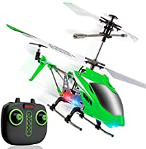 Syma S107H Wind Hawk Remote Control Helicopter for Adults and Kids - Indoor RC Helicopter with Altitude Hold, LEDs, Extended Flying Range, 2 Flying Speeds, and Rechargeable Battery (Green)