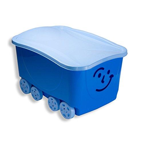 Mondex PLS558-20 Bac de Rangement à Roulettes pour Enfant Plastique Bleu 58 x 39 x 32 cm