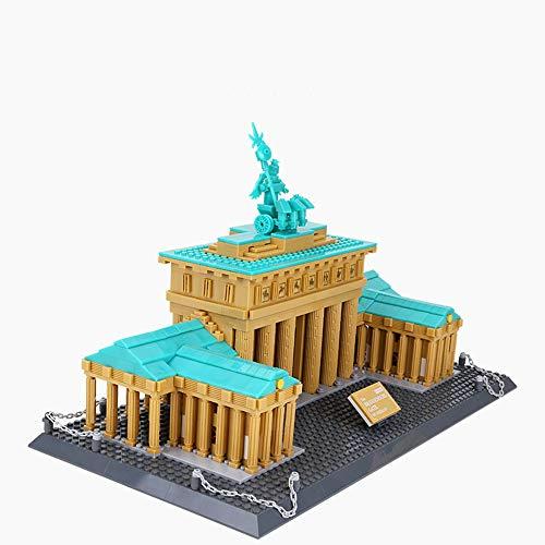 Puerta De Brandenburgo Alemania Modelo De Construcción 3D Tridimensional Papel Ensamblado Niños Adultos Juguete Rompecabezas Trabajos Hechos A Mano Puzzle Building (1552 Piezas)
