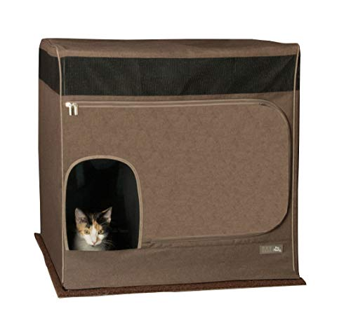 Pet Gear Pro Pawty for Cats with LittertraX Mat, Put an end to Scattered Litter. Box not incl, Espresso