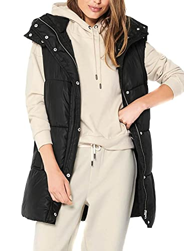 Only Onldemy Padded Waistcoat Otw Noos Chaqueta, Negro, L para Mujer