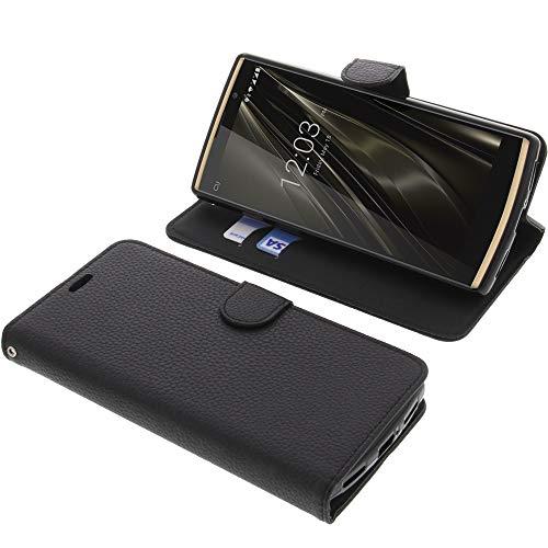 foto-kontor Tasche für Oukitel K7 Book Style schwarz Schutz Hülle Buch