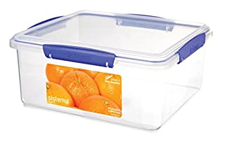 Sistema 1850 Klip It Collection Rectangle Food Storage Container, 169 Ounce/21 Cup (B00284AG5K) | Amazon price tracker / tracking, Amazon price history charts, Amazon price watches, Amazon price drop alerts