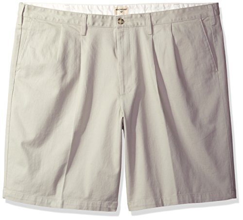 Dockers Men's Big and Tall Double Pleated Short, Porcelain Khaki (Stretch), 56