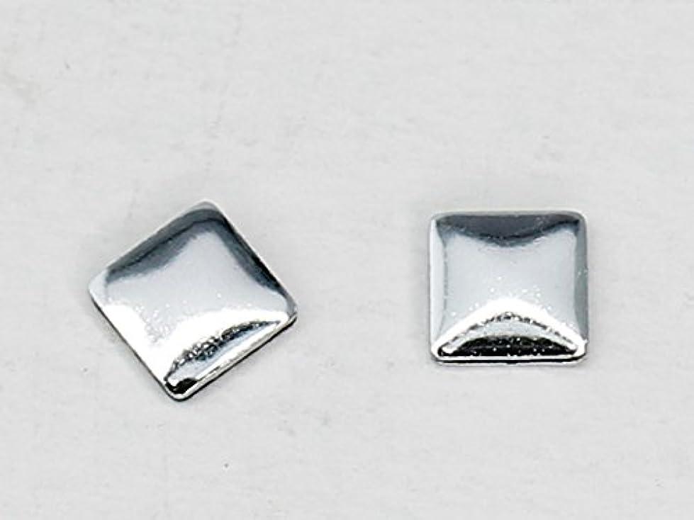 国民大胆な石化する10492 Hotfix(ホットフィックス) メタルスタッズ スクエア 3mm 50粒入 スワロフスキー/シルバー