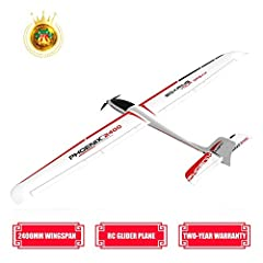 ✈PROFESSIONAL CREATION - Highly efficient aerodynamic design for great glide performance and concealed servo design makes the aircraft clean and neat. ✈2400MM WINGSPAN - Wingspan is long(2400mm / 94.49inch). A professional glider for you. Streamlined...