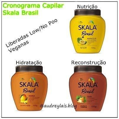 Kit Creme Skala Brasil com Caju, Manga e Maracujá