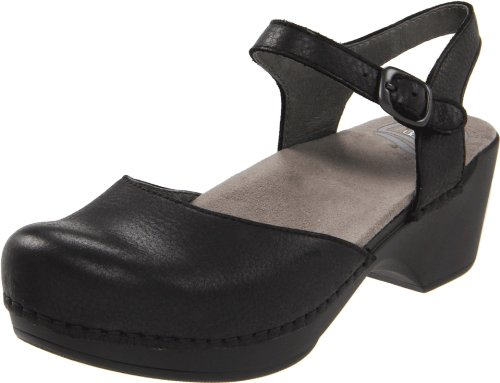 Dansko Women's Sam Black Sandal 8.5-9 M US