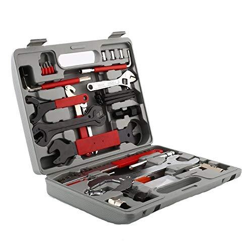 HENGMEI Fahrrad Werkzeugkoffer 44 TLG Fahrradwerkzeug Tool Werkzeugset Reparatur Reparaturset