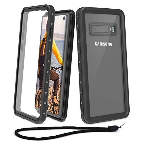 Beeasy Funda Samsung Galaxy S10,Impermeable 360 Grados Protección IP68 Carcasa Antigolpes Rígida Robusta Antigravedad Resistente al Impacto Militar Duradera Blindada Fuerte Seguridad Case Cover, Negro