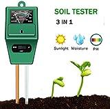 YZXZM Boden-pH-Tester - 3 in 1 Measure Boden pH-Wert, Licht und Feuchtigkeit Säure Tester, ideal...