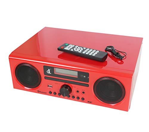 dl DAB/DAB+ DSP HiFi Digital Radio Compact Tutto in Uno Stereo Radio Lettore CD HIFI, Bluetooth, USB,FM, AUX IN, Telecomando con il Suo Altoparlante 2 * 15W Ad Alta Potenza
