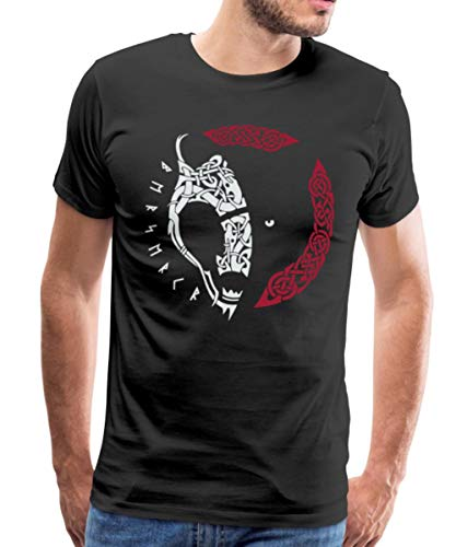 Norse Bear Berserker Celtic Knotwork Men's Premium T-Shirt, 2XL, Black