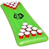 GoPong Pool Pong Table, Inflatable Floating Beer Pong Table, Includes 3 Pong Balls