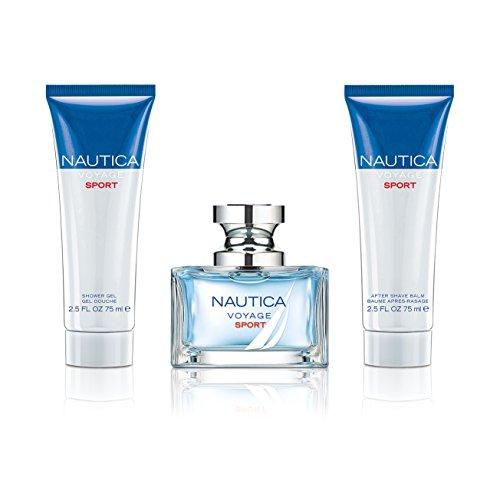 Nautica Voyage Sport 3pc set - 1.0oz Eau de Toilette + 2.5oz Shower Gel + 2.5oz After Shave