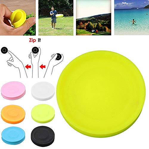 luoOnlineZ Ultimate Mini Flying Disc,Silikon Frisbee Spielzeug Spin Game Spielzeug for Outdoor Kinder Männer Frauen