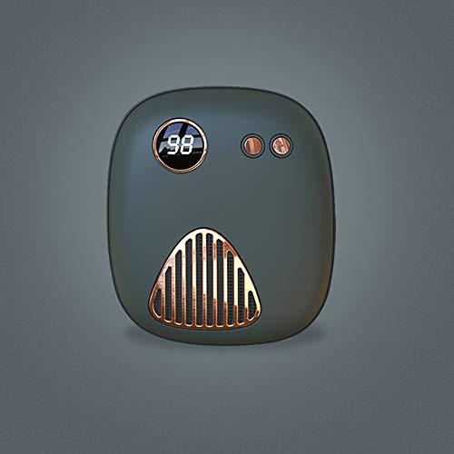Calentador de manos USB recargable portátil 5000 mAh Power Bank, el mejor regalo de invierno (verde, 5000 mAh)