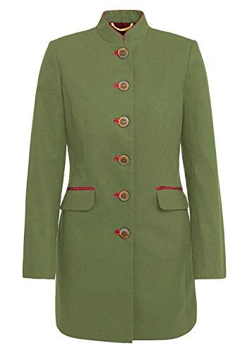 Brigitte von Boch - Damen - Esquire Gehrock Khaki - Long-Blazer als Coole Übergangs-Jacke im Trachten-Look, Größe:38