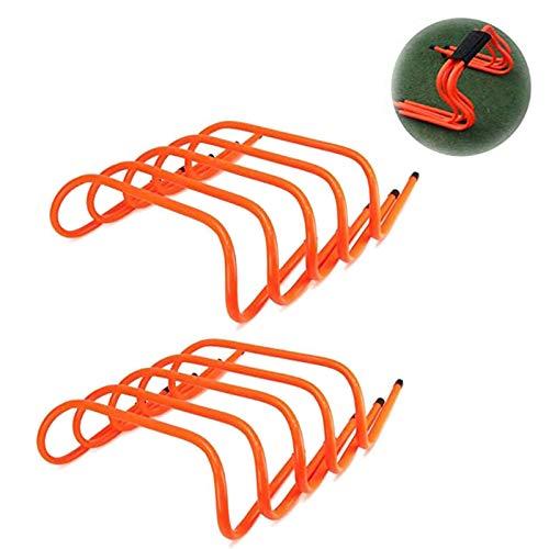 トレーニング ミニハードル 10個セット ハードル トレーニング スピード・敏捷性強化、サッカー、トレーニングに適しています、オレンジ色