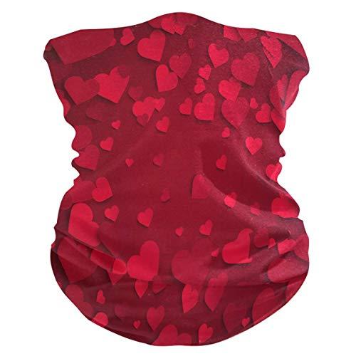 Diadema para el día de San Valentín, con forma de corazón, protección UV, protección solar, bufanda, bandana mágica, pasamontañas para mujeres y hombres