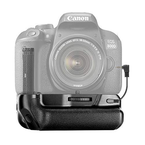 Neewer Poignée Alimentation Verticale avec Support de Batterie pour Canon EOS 800D/Rebel T7i/77D/Kiss X9i/9000D, Compatible avec 1 ou 2 pcs de Canon LP-E17 Batterie (Batterie Non Incluse)