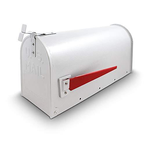 US Mailbox Amerikanischer Briefkasten Standbriefkasten Wandbriefkasten Letterbox Weiß Inclusive Wandhalter - 3