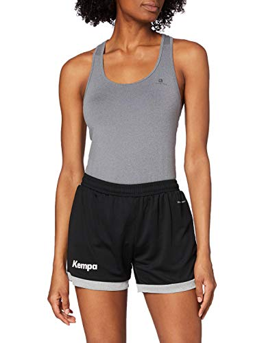 Kempa Damen Core 2.0 Shorts , Schwarz (Black/Dark Grey Melange) , S