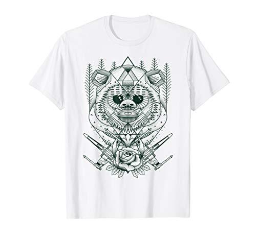 Star Wars Ewok Geometric Forest Poster T-Shirt