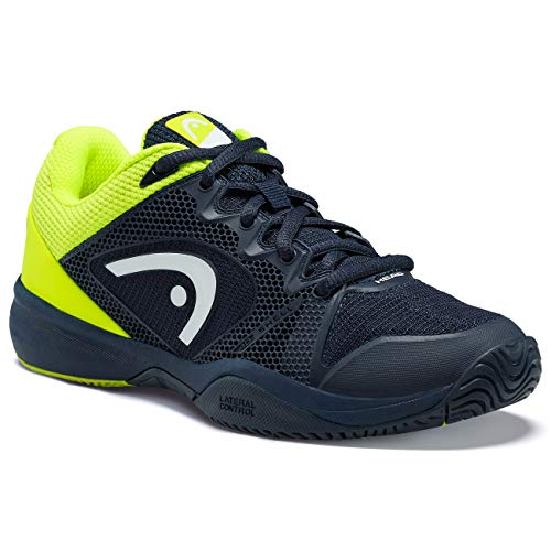 Head Revolt Pro 2.5 Junior Zapatillas de Tenis, Unisex niños, Azul Oscuro, Amarillo neón, 32 EU