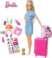 Le bambine più curiose viaggeranno per il mondo insieme a Barbie con set di viaggio ispirato alla serie Barbie Dreamhouse Adventures, che comprende cucciolo, valigia e oltre 10 accessori La valigia rosa di questa Barbie da viaggio ha un manico a scom...