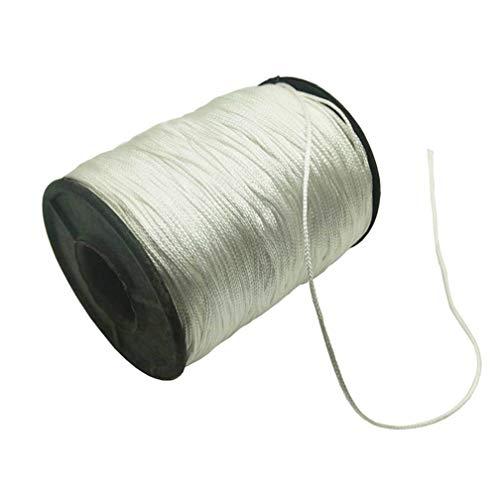 Vtete 1 x Rolle von 150 Yards Lift Shade Cord – 1,0 mm weiß geflochtene Polyester Sonnenjalousien Zugschnur für Jalousien, Fenster, römische Schattenreparatur, Gartenarbeit & Bastelprojekte