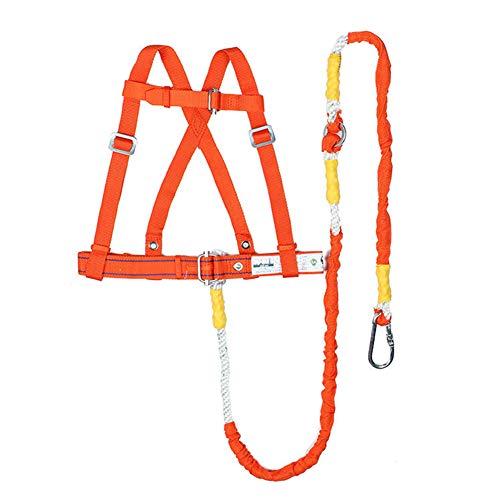 LAIABOR Arneses Arnés de Escalada Cinturón de Seguridad construcción Cuerpo arnés cinturón de Seguridad de la Industria de la construcción con Gancho,Orange