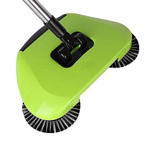 Sisyria Haushaltswischmopp, Bodenwischmopp Bodenwischmaschine Staubsauger Kehrmaschine Bürste Kehrmaschine Hand-Push-Reiniger,Green