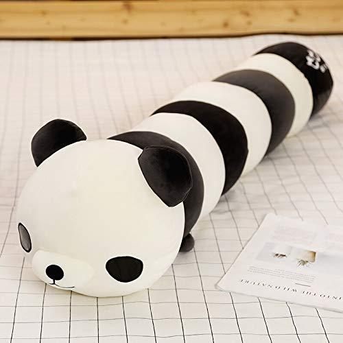 KXCAQ 70-120 cm de Felpa Colorida en Forma de Oruga niños Felpa Panda Jirafa Cangrejo Abrazo Almohada muñeca niño niña Juguete cojín Regalo 100 cm Panda