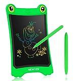 NEWYES Tavoletta LCD da Disegno con Display Colorato 8,5 Pollici Tavolo da Disegno Cancellabile con Pulsante Elimina e Interruttore di Blocco per Bambini e Adulti (Verde)