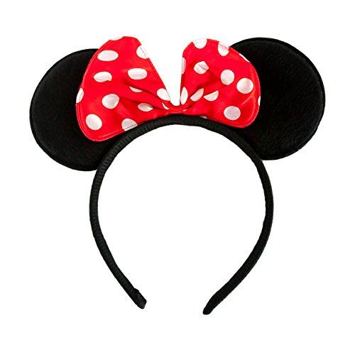 Haarreifen mit Maus Ohren und Schleife