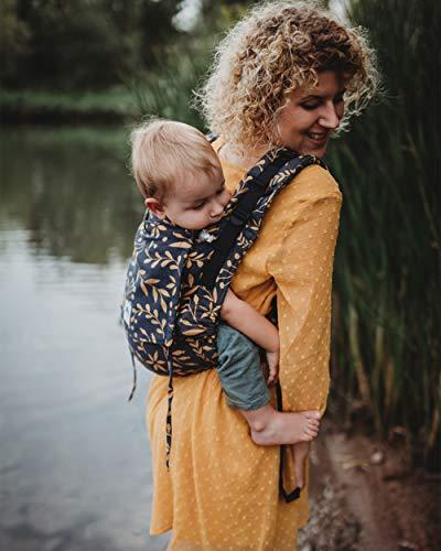 LIMAS Flex Babytrage Fullbuckle | 56-104 cm | Bauchtrage & Rückentrage & Onbuhimo | ab 2.-3. Monate bis 3+ Jahre | Baby Carrier | Flora Honey Moon
