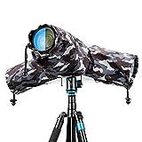 Camera Lens Rain Cover Raincoat Sleeve Gear Camo for Canon EOS R5 R6 R Rp Rebel T7 T8i T7i T100 90D 80D 4000D SL3 SX70 SX60 Nikon Z7 Z6 II Z5 D780 D850 D750 D7500 D5600 D3500 Coolpix P950 P1000 P900