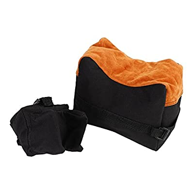 Dilwe Shooting Rest Bag, 2 Colors Quality Portable Front Rear Rifle Air Gun Bench Rest Bag Set for Hunting Shooting(Black)