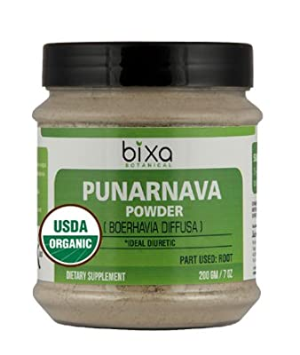 Organic Punarnava Powder (Boerhavia diffusa) USDA Certified - Ideal Diuretic | Useful in ascites, as emmenagogue | Herbal Supplement to increases digestion & haemoglobin levels