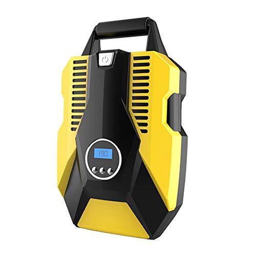 MagiDeal Compresor de Aire Portátil para Neumáticos de Automóvil, Inflador de Neumáticos de Automóvil Digital Portátil, 12V CC con Linterna LED de Emergencia P - 19 cilindros digitales