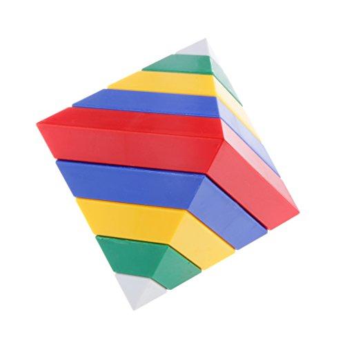 MagiDeal 15pcs Ensembles Blocs de Construction Forme de Pyramide Cadeau Jouet pour Enfants
