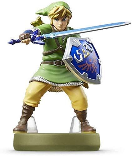 Realista y divertido Legenda de la estatua de juguete de Zelda Amiibo: Link - ¡Estatuilla de la espada hacia el cielo!Leyenda de Zelda Figura de acción Juego Marca maestra Figura de colección de la re