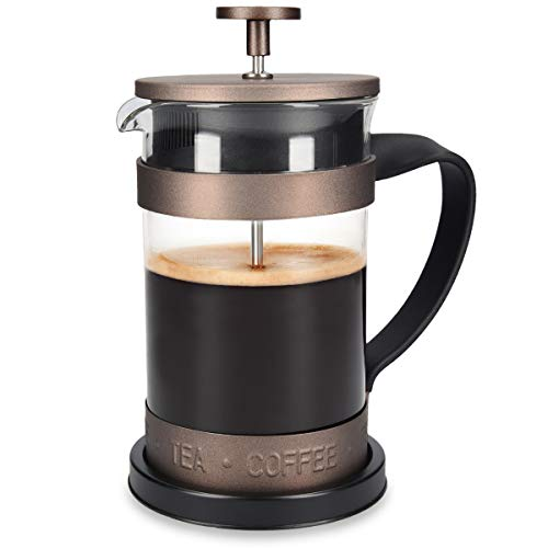 Navaris Cafetera Francesa de Acero Inoxidable de 600ML -