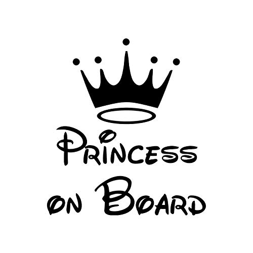 Personalized Board Princess Decal Sticker Sticker Car Decal Pvc Motorcycle Sticker Decal, Black/white, 15cm X 14cm