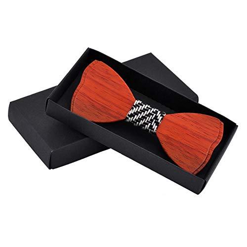 Hinleise Holz-Schleife für Herren, Bräutigam, Krawatte, Hochzeit, Party, Fliege, Schmetterling, Holz-Krawatte für Herren, Geschenk – # A – 1 Stück