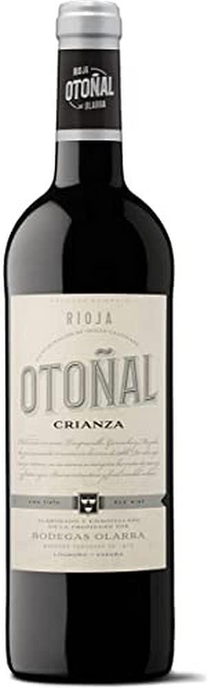 Otoñal - Vino Tinto Crianza, DOCa La Rioja, un Vino Clásico Renovado de Bodegas Olarra, Botella de 750 ml